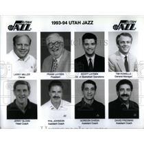 1993 Press Photo Larry Miller Frank Layden Tim Howells - RRX06819