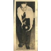 1935 Press Photo Joe Falcaro World's Champion Bowler - sbs07350