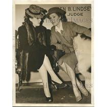1940 Press Photo Actress Jean Parker with Jean Pittebone after court appearance