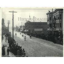 1898 Press Photo Horse race down Baker Street, Nelson, British Columbia