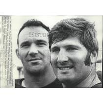 1968 Press Photo Saints football players, Doug Atkins and Fred Whittingham
