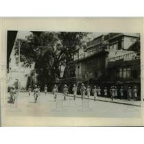 1930 Press Photo Troops Called Out to Quell Riots in Peshawar India - nem39978