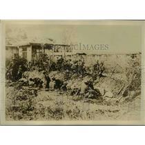 1918 Press Photo French & Italian Engineers Breaking Hun Defenses for Railroads