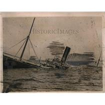 1919 Press Photo English Steamer Parkgate Sunk by German Submarine U-35