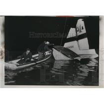1955 Press Photo Pittsburgh plane crashed in Monongahela River in PA - nem35295