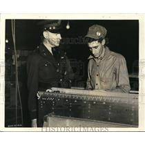 1941 Press Photo Gen Earl McFarland Stops to Chat with William Iorio - nem35775