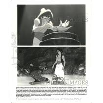 "1992 Press Photo Scenes from Walt Disney Picture's ""Aladdin"""