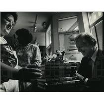 1988 Press Photo Jimmy Carter & Mary Kay Boyle at Harry W. Swartz Bookshop