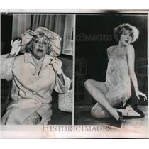 1926 Press Photo Mae Murray Dies at 75. Murray (Left), 1964, (right) 1926.