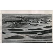 1963 Press Photo Aerial View of O'Hare Airport, Chicago, Illinois