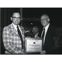 1979 Press Photo Donald C Summers Aviation Mechanic Safety Award