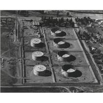 1959 Press Photo Aerial View of Fuel Storage of Northern Oil Terminal Company