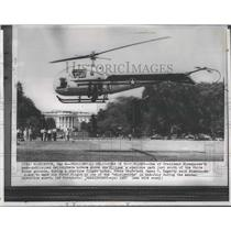 1957 Press Photo President Eisenhower's hovers above part south of White House