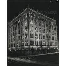 1930 Press Photo Spokane Chronicle Building at Night