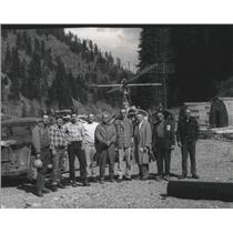 1961 Press Photo Construction & Engineering Men Pose During Operation