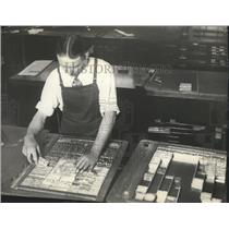 1934 Press Photo Inside the composing room of the SR Newspaper