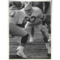 1989 Press Photo Seattle Seahawks football line backer, Dave Wyman - sps09378
