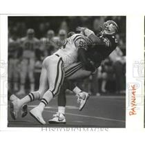 1991 Press Photo Seattle Seahawks football quarterback, Dan McGwire - sps10406