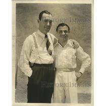 1901 Press Photo Pat O'Brien visited by Tony Canzoneri. Lightweight Champion.