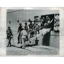 1950 Press Photo American reinforcements arrive in South Korea - nem41636