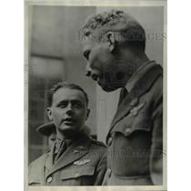 1930 Press Photo Lt Albert Hegenberger and Lt Lester Maitland navigator & pilot