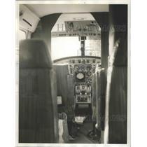 1964 Press Photo Tuscaloosa-University of Alabama's airplane cockpit.