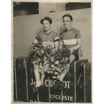 1929 Press Photo Gerard Denaets and Franco Goergetti won Intl. Six Day Bike Race