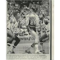 1974 Press Photo Jim Barnett of Jazz,  Wardell Jackson & Archie Clark of Seattle