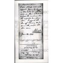 1862 Press Photo Abraham Lincoln letter, Presidential Views - mjb09641