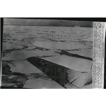 1940 Press Photo Emergency landing fields, in Antarctic, view from Navy plane.