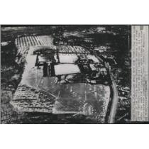1946 Press Photo Air view of proposed UNO site, Greenwich, Connecticut