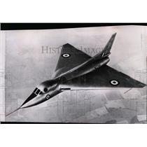 1953 Press Photo Britain's new Avro delta-wing 707c research plane over England