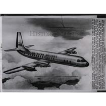 1955 Press Photo Artist's sketh of the Lockheed Electra, a 4-engine transport.
