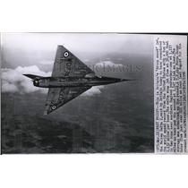 1956 Press Photo Britain's jet Fairey Delta 2, recaptured world speed record