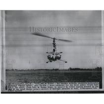 1957 Press Photo Stability helicopter Stable Mabel goes through test flight