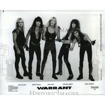 1990 Press Photo Warrant band members - spb13141