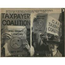 1973 Press Photo County man demonstrators capitol - RRV89925