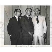 1971 Press Photo Thomas Lemann, Robert Barrere, Robert Holloway, Civil Service