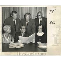 1969 Press Photo Members of the United Negro College Fund Plan 1969 Drive