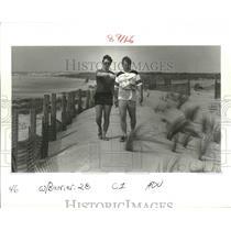 1986 Press Photo Isles Derniers - Jim Edmonson and Bob Jones, Terrebonne Parish