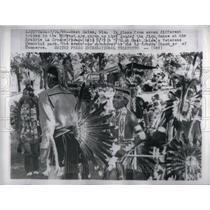 1966 Press Photo Native American/Wisconsin/Dance/Indian - RRU97959