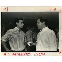 1990 Press Photo Hernan Bazan, Tommy Gamard at Vanderbilt Reunion