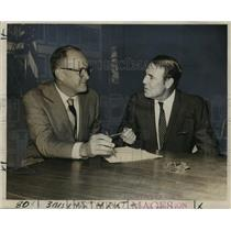 1969 Press Photo Port of New Orleans - Robert Barkerding and H.J. Lane Jr.