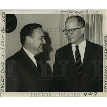 1969 Press Photo Port of New Orleans - Eads Poitevent and Robert Barkerding