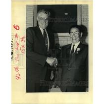 1992 Press Photo Mayors Sidney Barthelemy and Takaaki Ishikura - noa28205