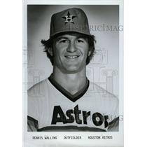 1979 Press Photo Dennis Walling Houston Astros Baseball - RRW80363
