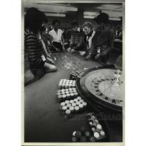 1981 Press Photo Atlantic Community College Class for Dealers and Casino Workers