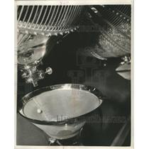 1952 Press Photo Lottery ball pops out of a cage - mjb21286