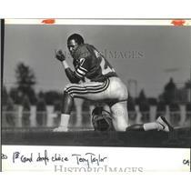 1984 Press Photo Seattle Seahawks football corner back, Terry Taylor - sps11954