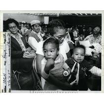 1982 Press Photo Fay Toussaint Cobo Housing Lottery - RRY71647